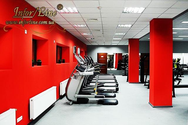 Дизайн интерьера фитнес клуба